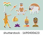 collection set of india vector. ... | Shutterstock .eps vector #1690400623