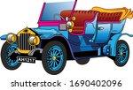 car vector vintage tarantass... | Shutterstock .eps vector #1690402096