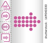 simple icon set of arrows on... | Shutterstock .eps vector #169040330