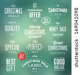 collection of typographic... | Shutterstock .eps vector #169041098