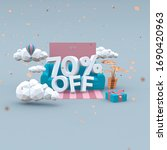70 Seventy Percent Off 3d...