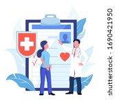 health insurance  hospital and... | Shutterstock .eps vector #1690421950