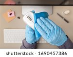 Hand With Protective Glove...