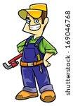 technicians cartoon illustration | Shutterstock . vector #169046768