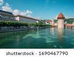 historic city center of lucerne ...   Shutterstock . vector #1690467790