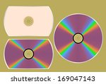 dvd disk  without mesh  | Shutterstock .eps vector #169047143