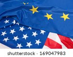closeup of flags of usa and... | Shutterstock . vector #169047983