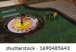 it is realistik 3d design poker ...   Shutterstock . vector #1690485643