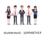 businessman and businesswoman... | Shutterstock .eps vector #1690487419