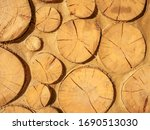 Clay And Log Wall As A...