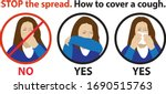 entitled  stop the spread. how...   Shutterstock .eps vector #1690515763