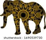 elephant animal mandala. vector ... | Shutterstock .eps vector #1690539730