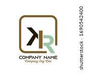 vector k i r company logo design | Shutterstock .eps vector #1690542400