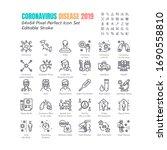 simple set of coronavirus... | Shutterstock .eps vector #1690558810