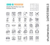 simple set of coronavirus... | Shutterstock .eps vector #1690558813