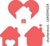 house vector icon. corona virus ... | Shutterstock .eps vector #1690599229