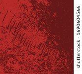 red aged grainy messy template. ... | Shutterstock .eps vector #1690604566