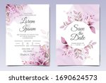 elegant wedding invitation... | Shutterstock .eps vector #1690624573