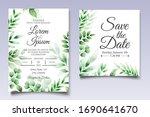 beautiful watercolor leaves... | Shutterstock .eps vector #1690641670