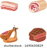 beef and pork meat color vector ... | Shutterstock .eps vector #1690650829