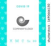 logo spiral  shell   a symbol...   Shutterstock .eps vector #1690666150