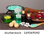 spa composition with aroma oils ... | Shutterstock . vector #169069040