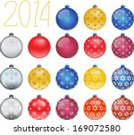 set of colorful christmas balls ... | Shutterstock . vector #169072580