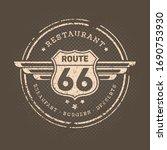 restaurant route 66 breakfast...   Shutterstock .eps vector #1690753930