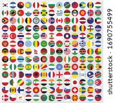 round country flag icon set | Shutterstock .eps vector #1690755499