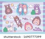 cute animals cartoons design ...   Shutterstock .eps vector #1690777399