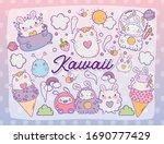 kawaii store cartoons design ... | Shutterstock .eps vector #1690777429