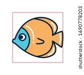 fish fill style icon design sea ... | Shutterstock .eps vector #1690778203