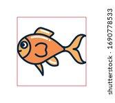 fish fill style icon design sea ... | Shutterstock .eps vector #1690778533