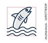 shark fill style icon design... | Shutterstock .eps vector #1690778539