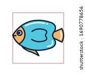 fish fill style icon design sea ... | Shutterstock .eps vector #1690778656