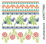 set of embroidery elegance... | Shutterstock .eps vector #169077980