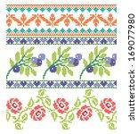 set of embroidery elegance... | Shutterstock .eps vector #169077980