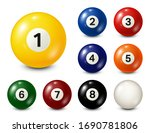 billiard  pool balls with... | Shutterstock .eps vector #1690781806