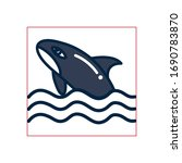 whale fill style icon design... | Shutterstock .eps vector #1690783870