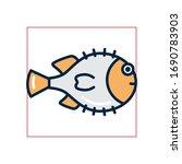 fish fill style icon design sea ... | Shutterstock .eps vector #1690783903