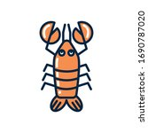 lobster fill style icon design... | Shutterstock .eps vector #1690787020
