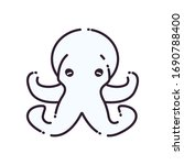 octopus line style icon design... | Shutterstock .eps vector #1690788400