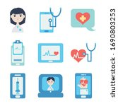 cardio hearts and doctor online ... | Shutterstock .eps vector #1690803253