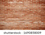 Old Red Brick Wall Background...