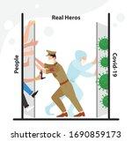 india fight with corona virus ... | Shutterstock .eps vector #1690859173