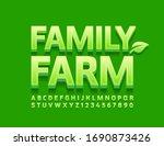 vector green logo family farm.... | Shutterstock .eps vector #1690873426