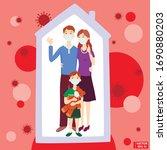 vector illustration. dad mom... | Shutterstock .eps vector #1690880203