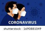 coronavirus in the world. novel ... | Shutterstock .eps vector #1690881049