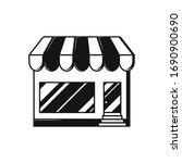 store  shop line on white back. ... | Shutterstock .eps vector #1690900690