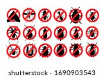 no insects  ban parasites  stop ... | Shutterstock .eps vector #1690903543